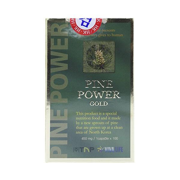 Tinh Dầu Thông Đỏ Hàn Quốc Pine Power Gold 100 Viên