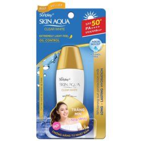 Sữa Chống Nắng Dưỡng Da Trắng Mịn Sunplay Skin Aqua Clear White Spf 50+/pa++++ 25G