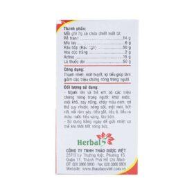 Bột Nước Mát Herbal Cool 10 Gói