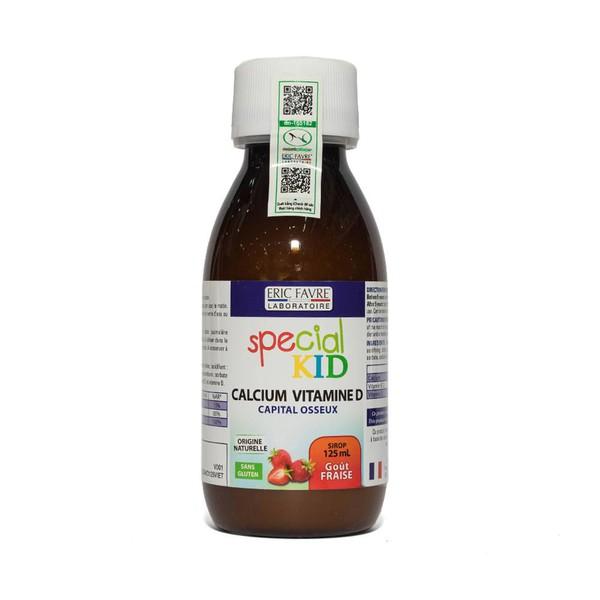 Siro Bổ Sung Canxi Cho Trẻ Special Kid Calcium Vitamine D Eric Favre Vị Dâu 125Ml