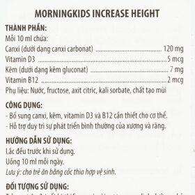 Siro Tăng Chiều Cao Cho Trẻ Morningkids Increase Height 125Ml