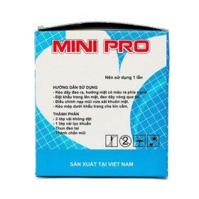 Khẩu Trang Kháng Khuẩn Mini Pro Xanh 4 Lớp 50 Cái