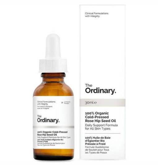 Tinh dầu cấp ẩm, dưỡng sáng da The Ordinary 100% Organic Cold Pressed Rose Hip Seed Oil