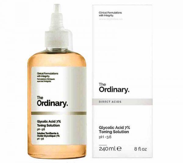 Nước hoa hồng The Ordinary Glycolic Acid 7% Toning Solution pH~3.6