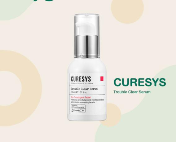 Serum trị mụn cho da dầu lỗ chân lông to CURESYS Trouble Clear Serum